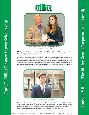 Special Rudy R. Miller Scholarships