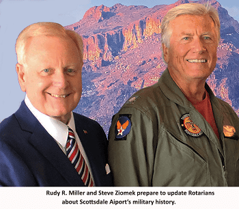 Rotarians Learn About Scottsdale Airport's Military History