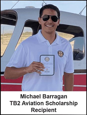 Thunderbird Field II Veterans Memorial, Inc. Awards Aviation Scholarship to Cochise College Student