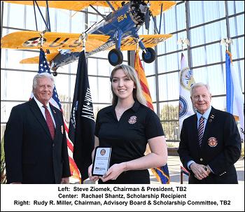 ASU Student Receives Aviation Scholarship from Thunderbird Field II Veterans Memorial, Inc.