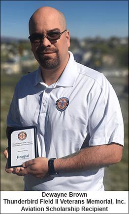 Thunderbird Field II Veterans Memorial, Inc. Awards Aviation Scholarship to Yavapai College Student