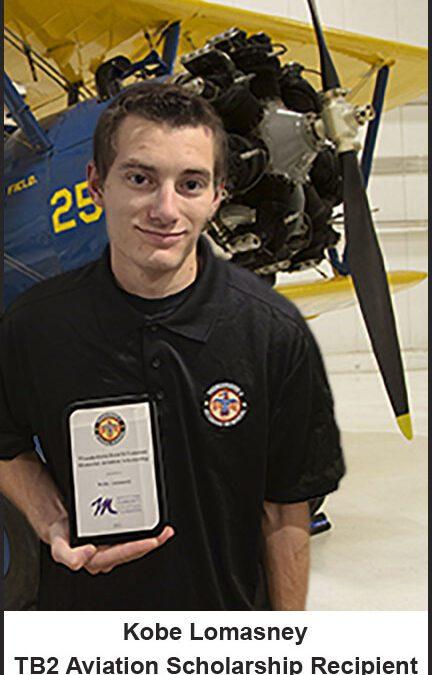 Thunderbird Field II Veterans Memorial, Inc. Aviation Scholarship Program Awards Kobe Lomasney