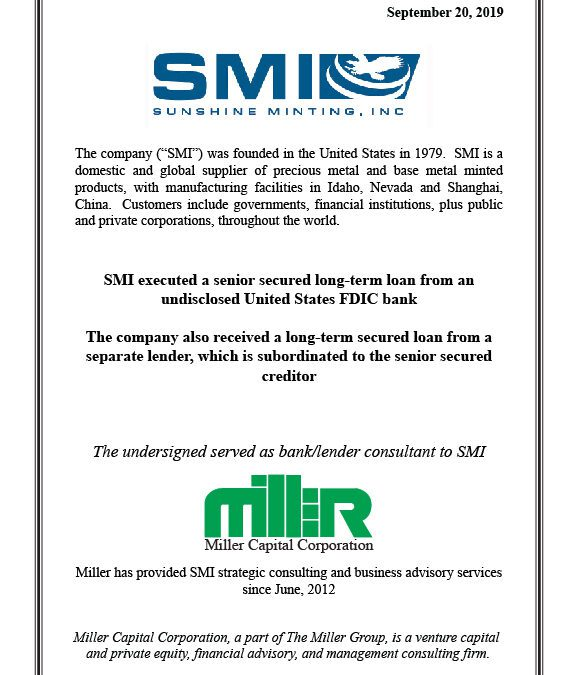 Miller Global Client Closes Financing